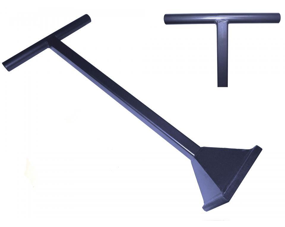 Stamper geheel van staal lengte 860mm