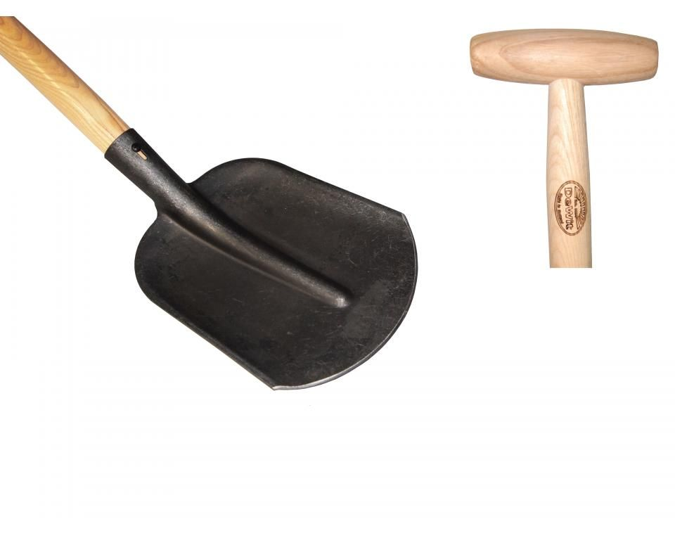 Sand scoop with steps ash T-handle 1100mm