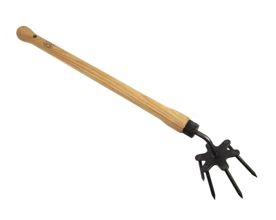 DeWit® Spike weeder with ash drop grip handle