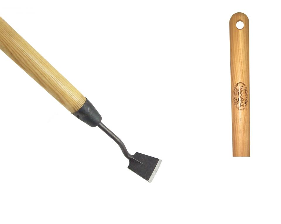 DeWit® Mini Push Hoe with long ash handle