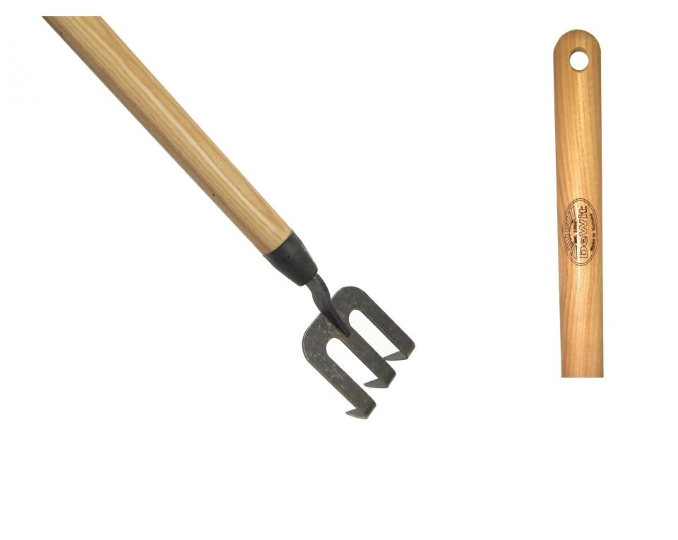 DeWit® Handfork with bended tines and 1400mm  ash handle