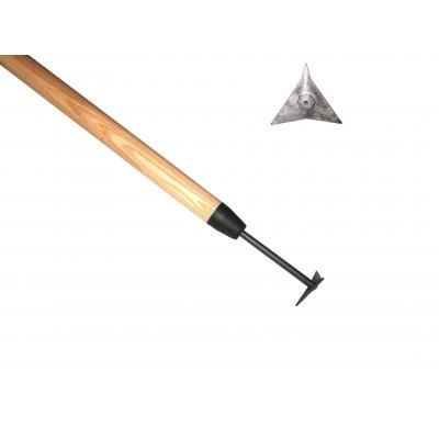 Triangle V-groove cleaner ash handle 1400mm
